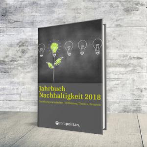 Coverabbildung Jahrbuch Nachhaltigkeit mit Link auf metropolitan