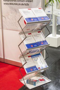ConSozial 2017: Prospektaufsteller mit Büchern der Blauen Reihe