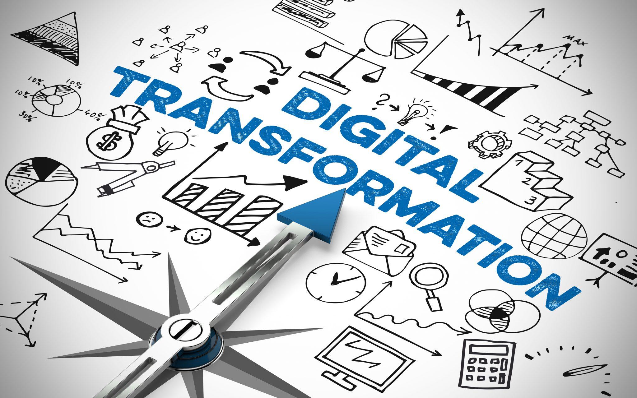 Symbolbild Digitaler Transformation als Konzept