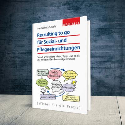 Coverabbildung Buch Recruiting to go für Sozial- und Pflegeeinrichtungen
