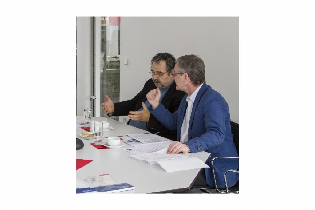 Herausgebertreffen in Regensburg, Prof. Brandl und Prof. Prinz, 07.02.2018