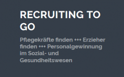 Snippet von der Homepage Recruiting to go