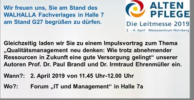 Standeinladung Altenpflegemesse Nürnberg, 2./4.4.2019