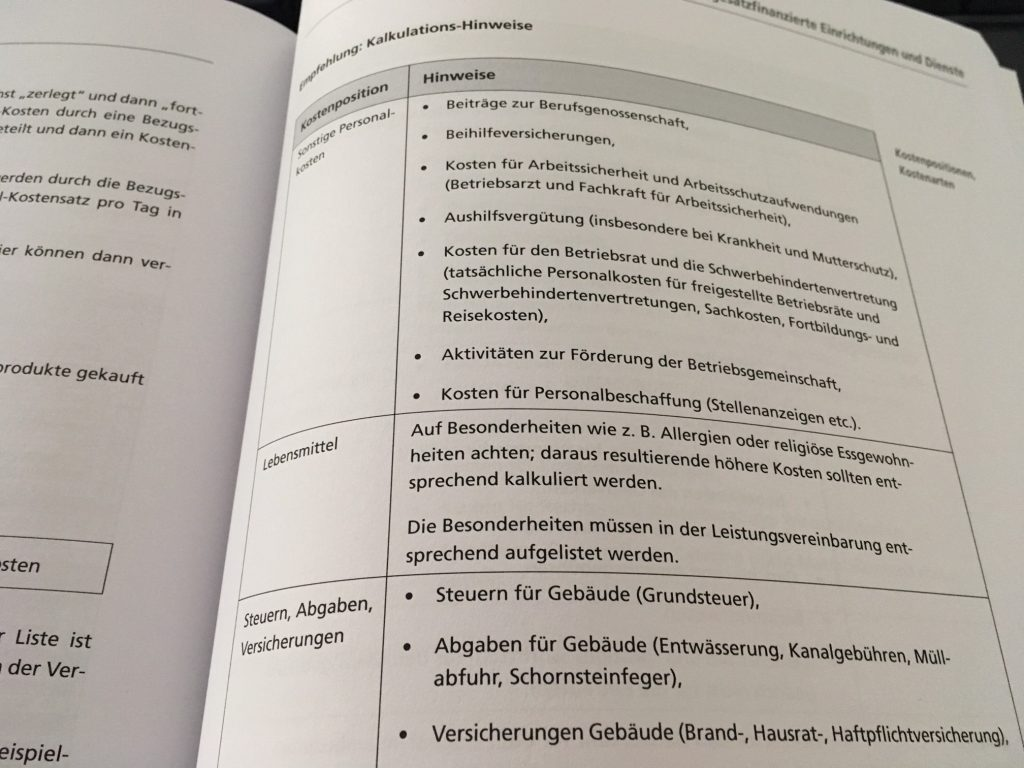 Ausschnitt aus dem Buch Finanzierung von sozialen Organisationen