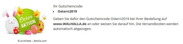 Gutscheincode für Versandkostenfreiheit bis 28.04. Gutscheincode bei Bestellung angeben: Ostern2019