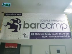 Eingang zum BarCamp Soziale Innovation 2019