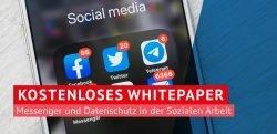 Werbebanner: Kostenloses Whitepaper Messenger und Datenschutz in der Sozialen Arbeit